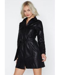 """Nasty Gal - """"tonight's The Night Faux Leather Dress"""" - Lyst"""