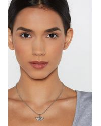 Nasty Gal - Angel Face Necklace - Lyst