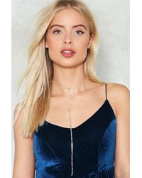 Nasty Gal | Jenny From The Block Diamante Choker | Lyst