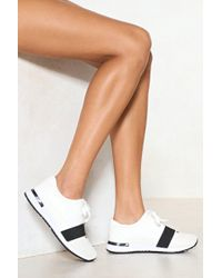 Nasty Gal | Run With It Vegan Leather Trainer | Lyst
