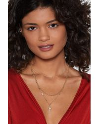 Nasty Gal - Cross With You Layered Necklace - Lyst