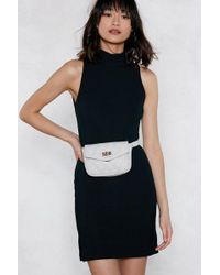 Nasty Gal - Want You Haven't Failed Quilted Belt Bag - Lyst