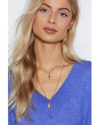 """Nasty Gal - """"play To Your Charms Layered Necklace"""" - Lyst"""