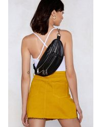 Nasty Gal - Want Chain It In Faux Leather Fanny Pack - Lyst