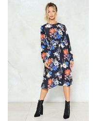 Nasty Gal - It's Not What Ya Know Floral Dress - Lyst