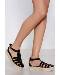 "Nasty Gal - ""learn The Ropes Espadrille Sandal"" - Lyst"