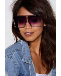 Nasty Gal - Square Is My Mind Oversized Shades - Lyst