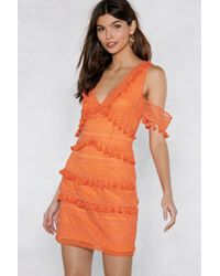 Nasty Gal - Get Into The Swing Of Things Tassel Dress - Lyst