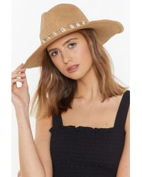 258ec72c2127f Nasty Gal - To Shell With That Straw Fedora - Lyst