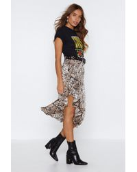 """Nasty Gal - """"snake Your Time Ruffle Skirt"""" - Lyst"""