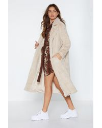 "Nasty Gal - ""warm Love Faux Fur Coat"" - Lyst"