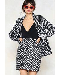 Nasty Gal - Zebra Print Mini Skirt Zebra Print Mini Skirt - Lyst