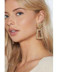Nasty Gal - Knock Knock Drop Earrings - Lyst