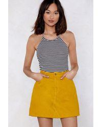 Nasty Gal - Line Up Striped Bodysuit - Lyst