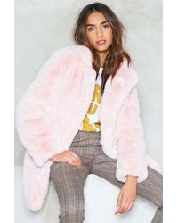 Nasty Gal - Surfin' Bird Faux Fur Coat - Lyst