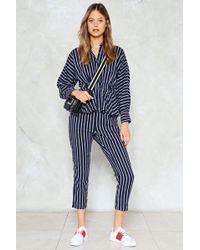 Nasty Gal | Make It Stripe High-waisted Pants | Lyst