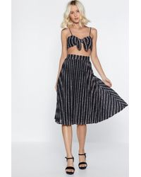 "Nasty Gal - ""pleat Yourself Glitter Skirt"" - Lyst"