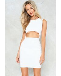 Nasty Gal - Cut-out Of This World Bodycon Dress - Lyst