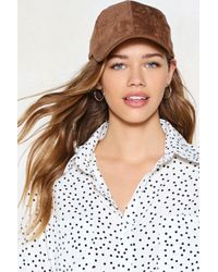 Nasty Gal - Come To A Head Corduroy Baseball Cap - Lyst