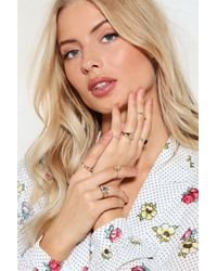 Nasty Gal | In Good Company 7-pc Ring Set | Lyst