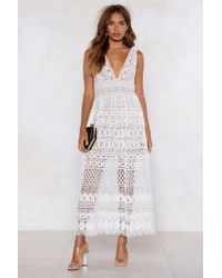 "Nasty Gal - ""in Lace Of Emergency Midi Dress"" - Lyst"
