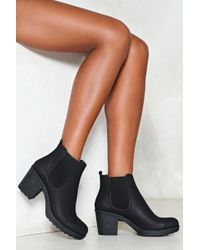 Nasty Gal - Cleated Gusset Ankle Boot Cleated Gusset Ankle Boot - Lyst