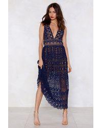 Nasty Gal - In Lace Of Emergency Midi Dress - Lyst