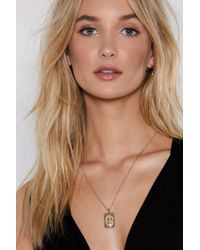 Nasty Gal - Say A Little Prayer Pendant Necklace - Lyst