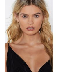 Nasty Gal - It's Your Cross Circle Earrings - Lyst