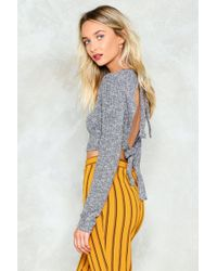 Nasty Gal - Don't Back Out Now Crop Top - Lyst