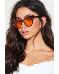 Nasty Gal - The Cats Pajamas Oversized Shades - Lyst
