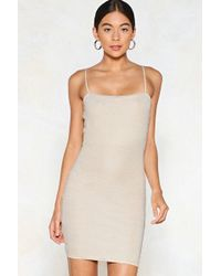 Nasty Gal - We Got Your Text-ured Mini Dress - Lyst
