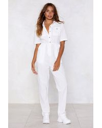 Nasty Gal - All Over You Linen Jumpsuit - Lyst