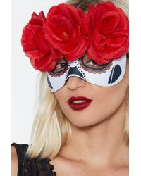 Nasty Gal - Day Of The Dead Floral Mask - Lyst