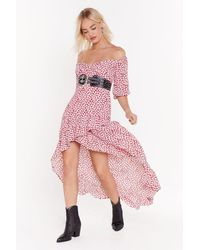 "Nasty Gal - ""keeping Things Frill Floral Maxi Dress"" - Lyst"