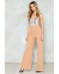 Nasty Gal - Wide Leg Tailored Pants Wide Leg Tailored Pants - Lyst