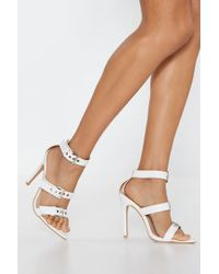 "Nasty Gal - ""best Of Buckle Faux Leather Heels"" - Lyst"