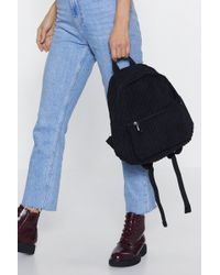 Nasty Gal - Cord Detail Back Pack - Lyst