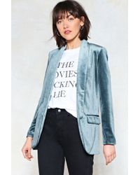 Nasty Gal - Get A Load Of This Velvet Blazer - Lyst