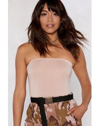 """Nasty Gal - """"jump At The Opportunity Strapless Bodysuit"""" - Lyst"""