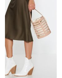 Nasty Gal - Want Bucket In Faux Leather Drawstring Bag - Lyst