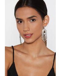 Nasty Gal - Ear's The Deal Diamante Earrings - Lyst