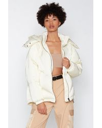 Nasty Gal - Layer It On Padded Coat - Lyst