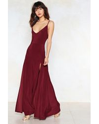 Nasty Gal - On A High Maxi Dress - Lyst
