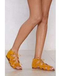 """Nasty Gal - """"to Tie For Lace-up Sandal"""" - Lyst"""