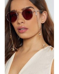 Nasty Gal - This Too Shell Pass Curb Glasses Chain - Lyst