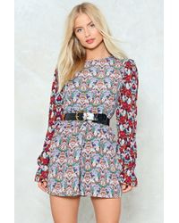 Nasty Gal - Grow With It Floral Romper - Lyst