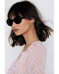 Nasty Gal - Come On Oval Shades - Lyst