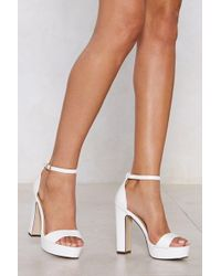 Nasty Gal - On The Rise Platform Heel - Lyst