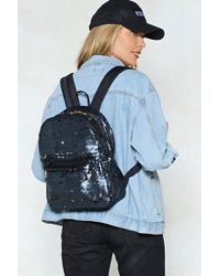 Nasty Gal - Want Sequin You Again Backpack - Lyst